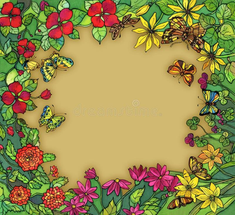 Flores do wih da beira ilustração stock