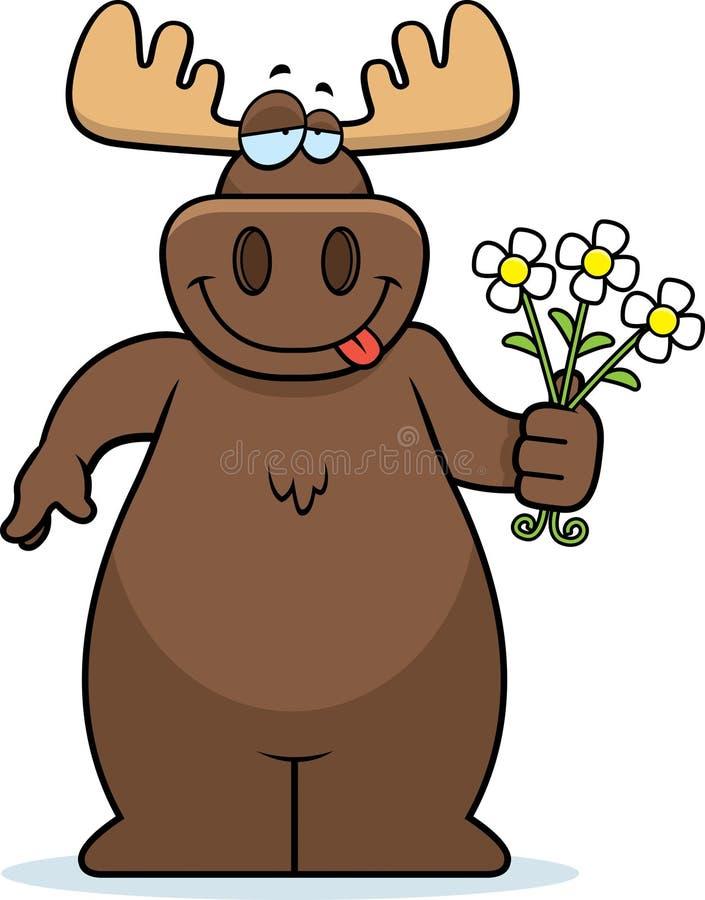Flores dos alces ilustração stock