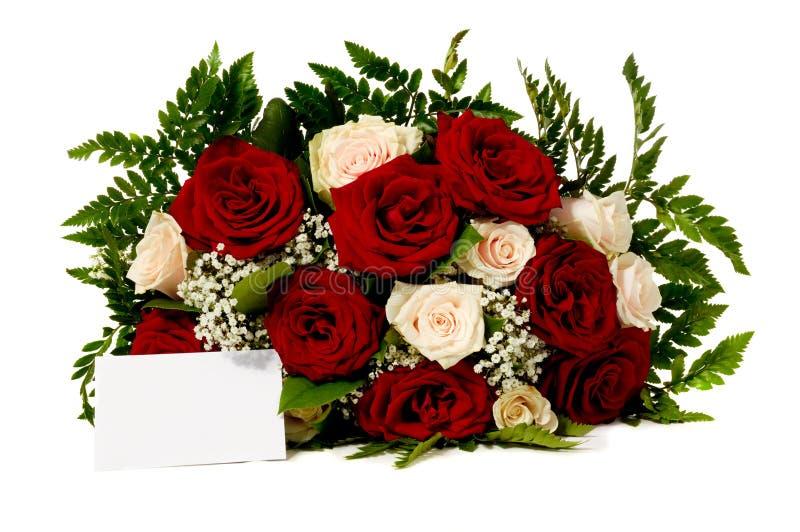 Flores e cartão em branco fotos de stock royalty free