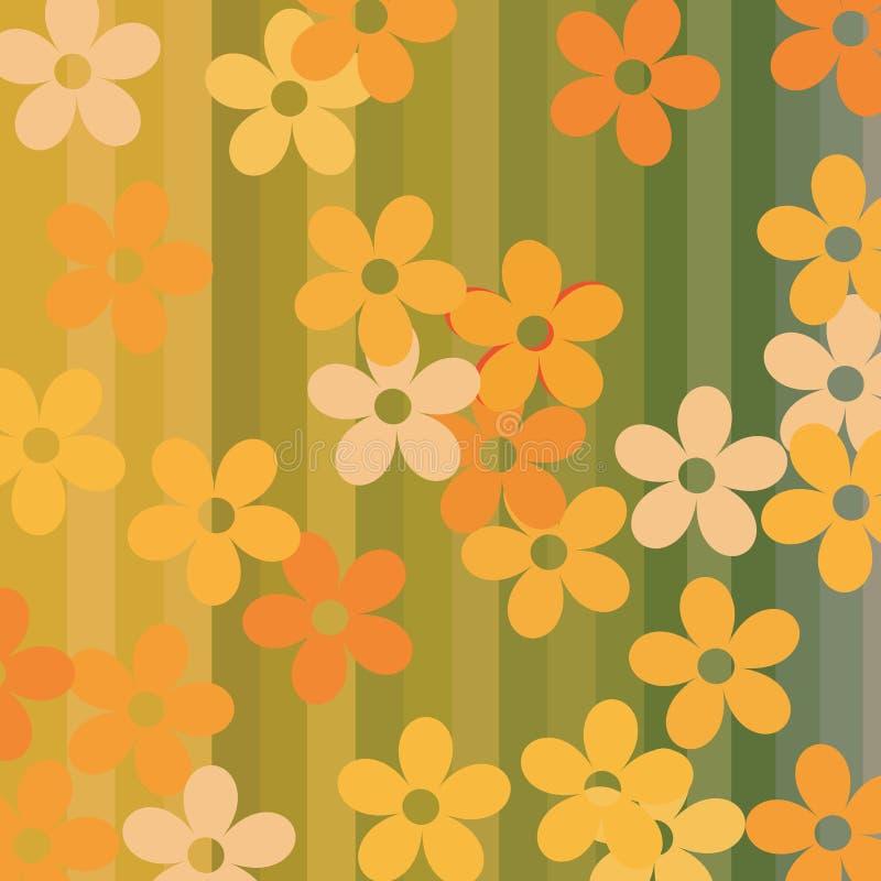 Flores e fundo sem emenda das listras ilustração royalty free