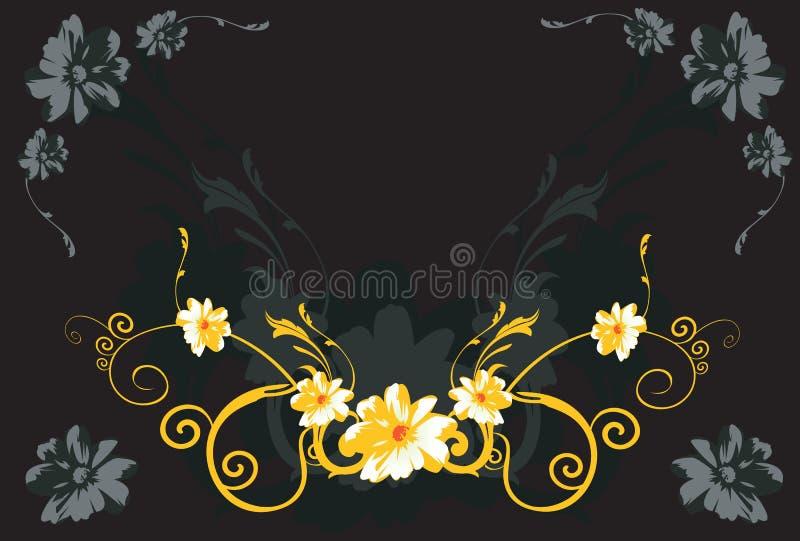 Flores e redemoinhos ilustração royalty free