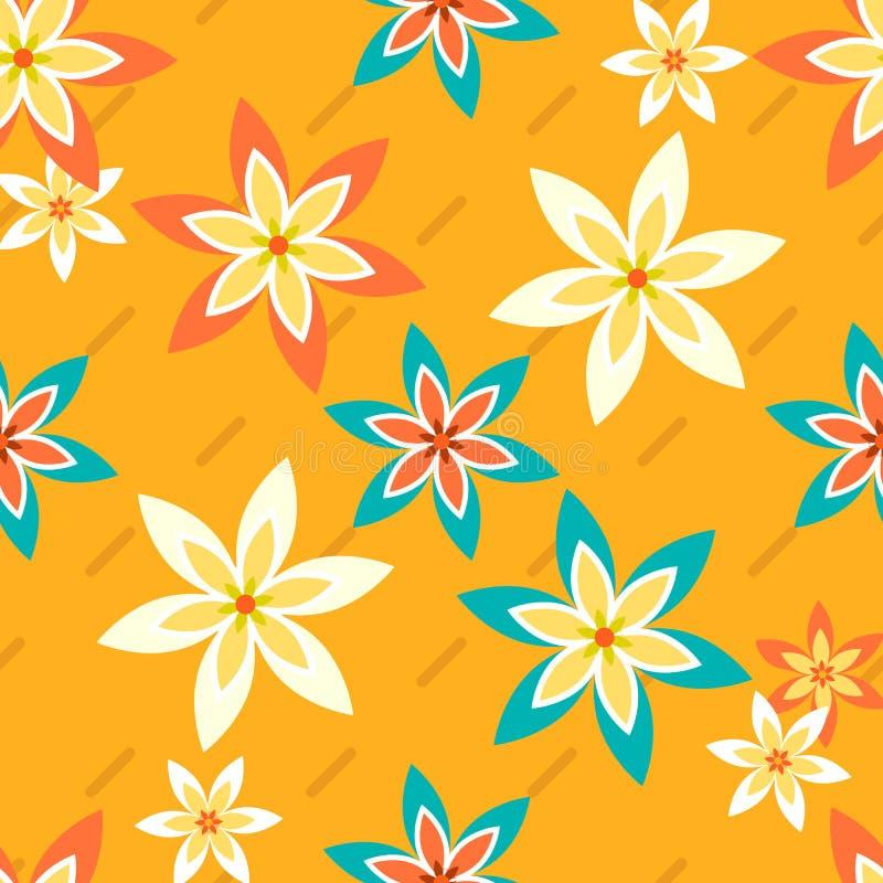Flores e Stripes2-01 ilustração stock