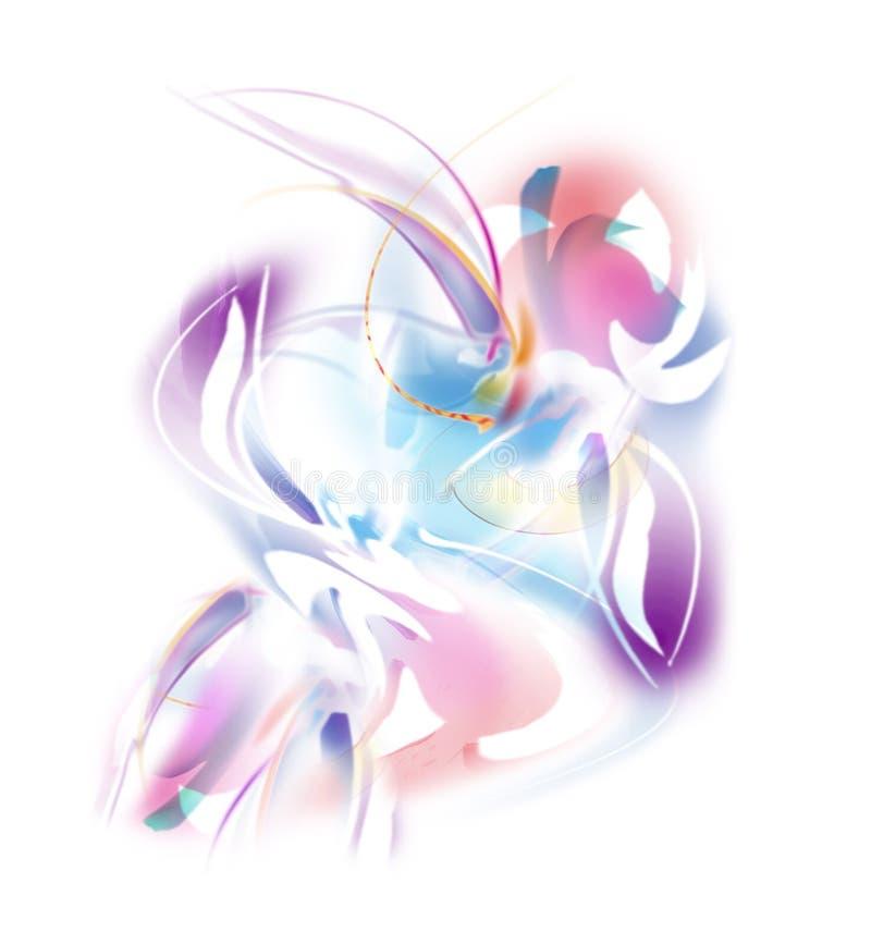 Flores em cor-de-rosa e no roxo - ilustração abstrata ilustração do vetor