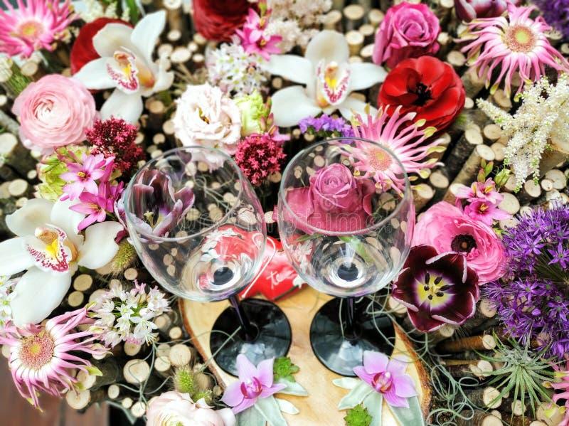 Flores em Floraart em Zagreb, Cro?cia imagem de stock