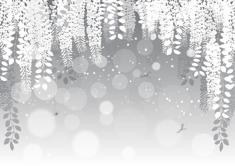 flores em um fundo cinzento Ilustração do vetor ilustração do vetor