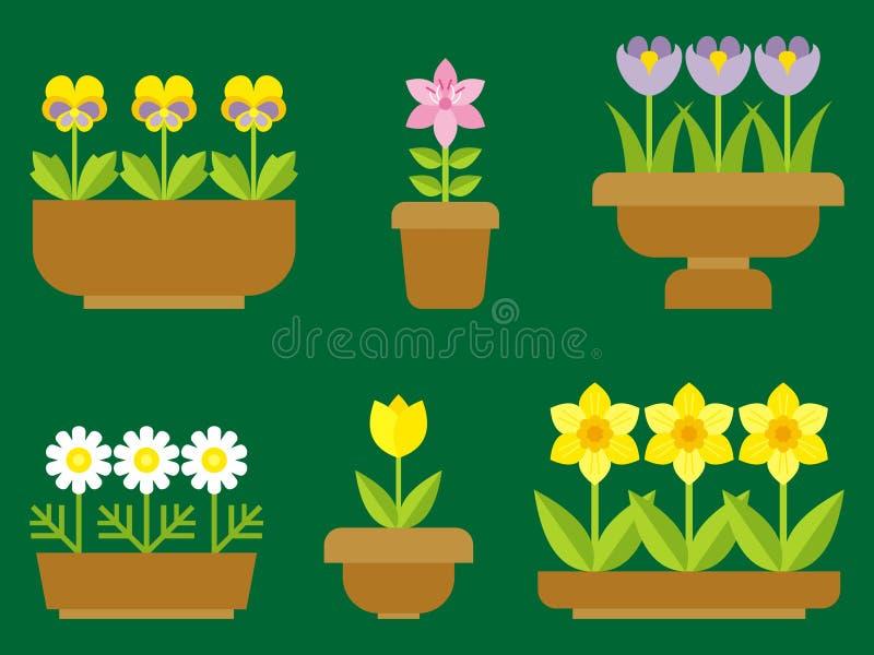 Flores em uns potenciômetros ilustração do vetor