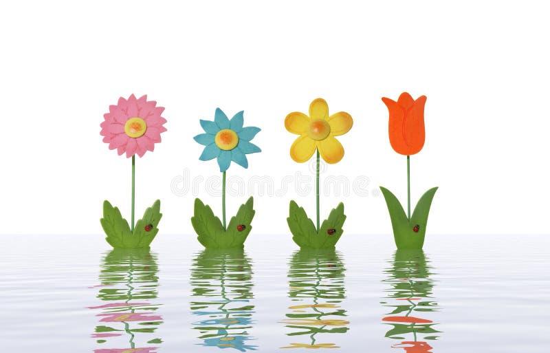 Flores en agua fotografía de archivo