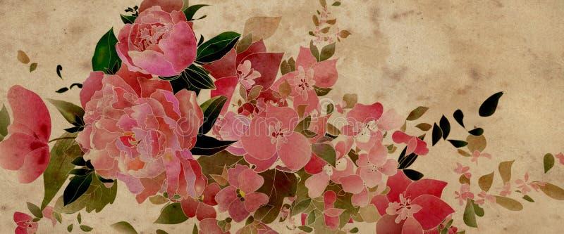 Flores en colores pastel de la acuarela libre illustration