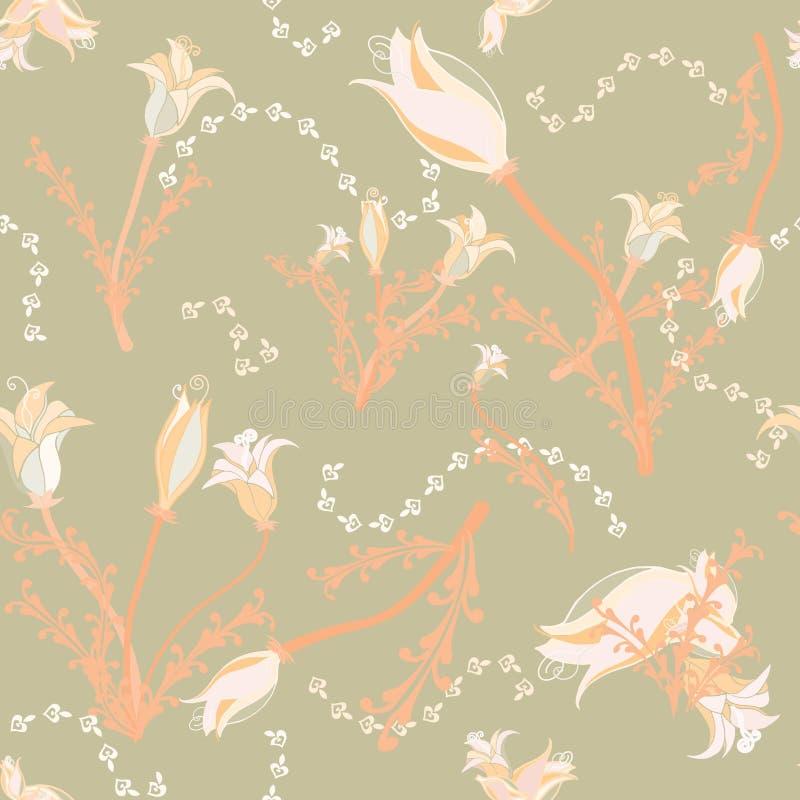 Flores en colores pastel del melocotón suave imagen de archivo