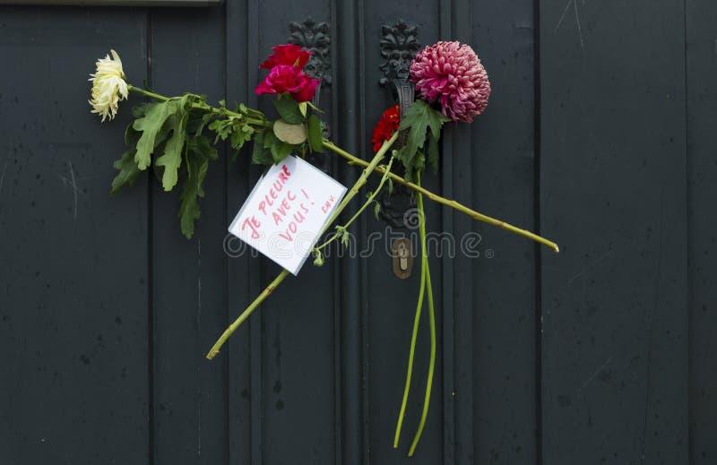 Flores en el consulado francés foto de archivo libre de regalías