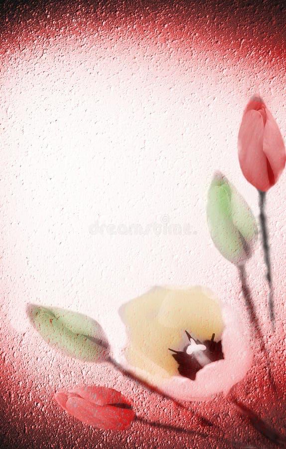 Flores en fondo textured libre illustration