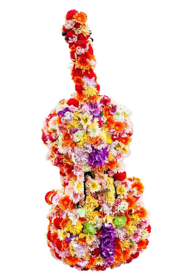 Flores en la forma de la guitarra imágenes de archivo libres de regalías