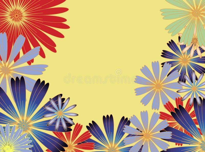 Flores ensolaradas ilustração royalty free