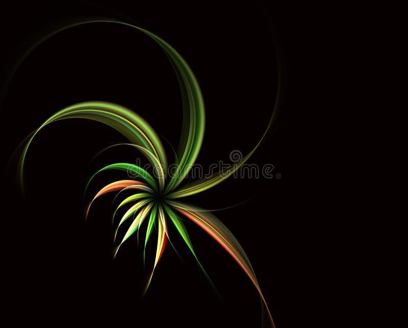 Flores espirais m?gicas Fractal abstrato ilustração do vetor