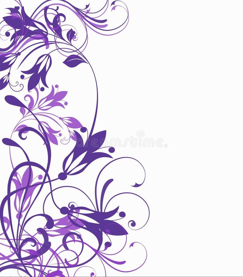 Flores estilizadas violetas en un fondo blanco ilustración del vector