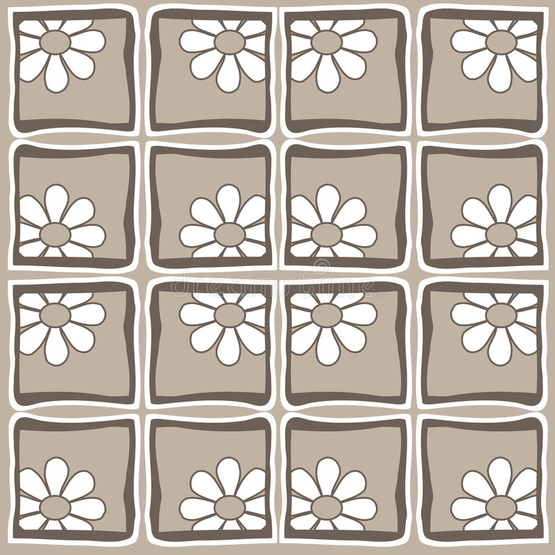 Flores - estilo retro stock de ilustración