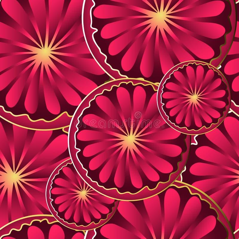 Flores exhaustas del extracto de la pendiente de la mano en esquema de oro libre illustration