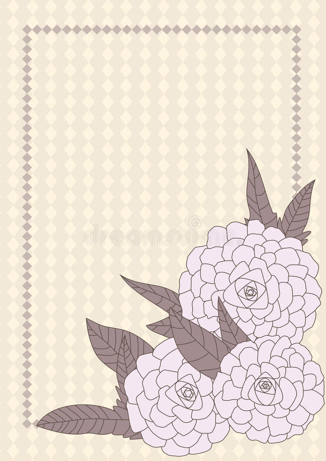 Flores exhaustas Space_eps de la esquina stock de ilustración