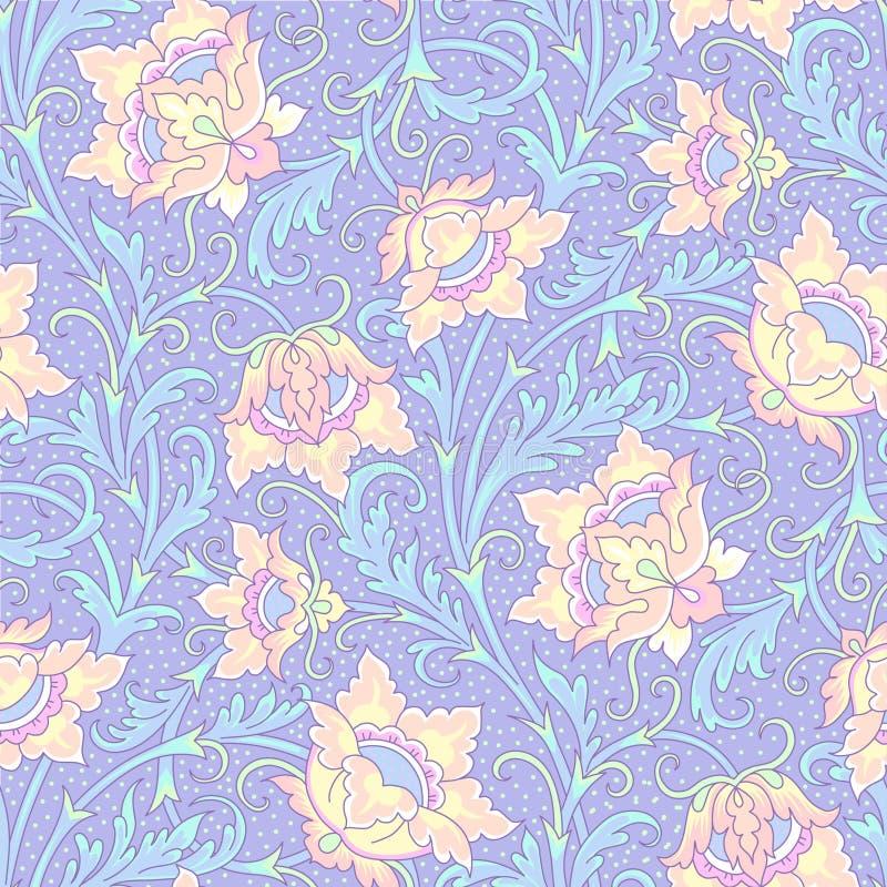 Flores fantásticas que se encrespan stock de ilustración