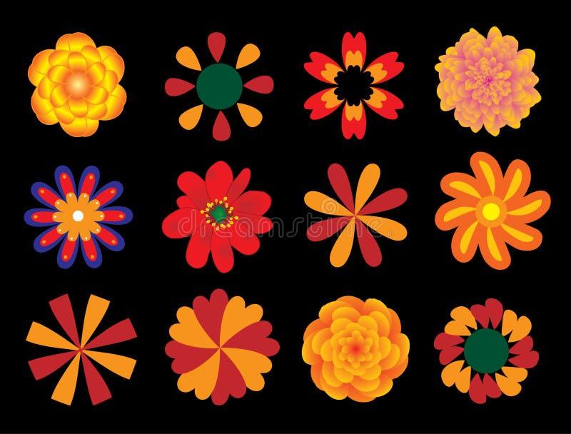 Flores fijadas,   foto de archivo