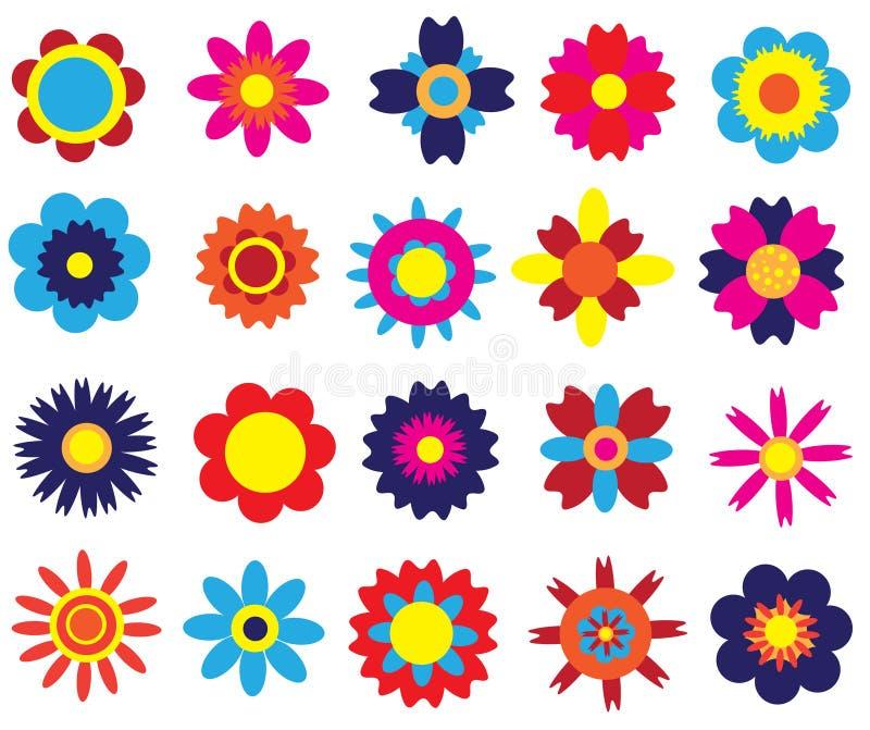 Flores fijadas ilustración del vector