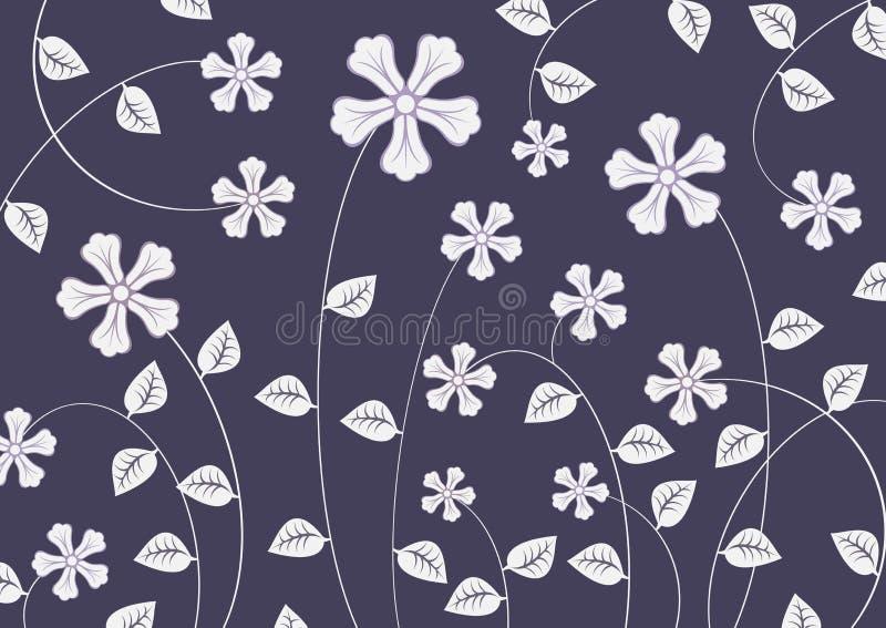 Flores Funky ilustração stock