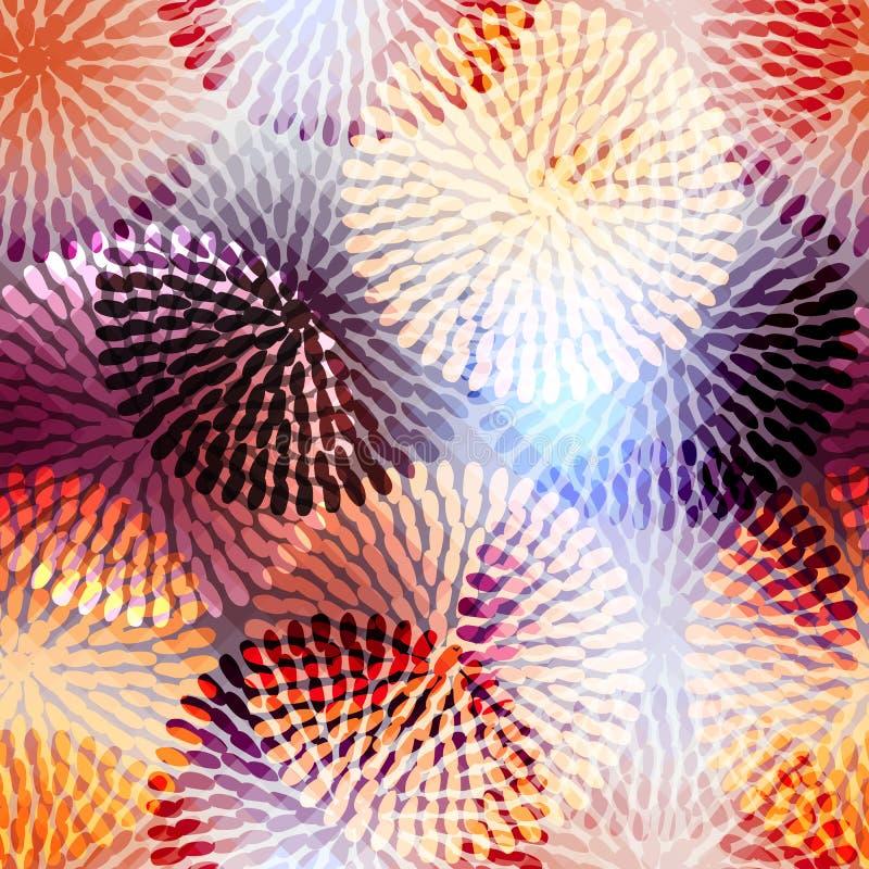 Flores geométricas ilustración del vector
