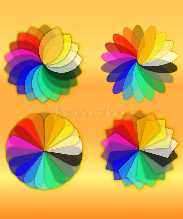 Flores geométricas del Web stock de ilustración