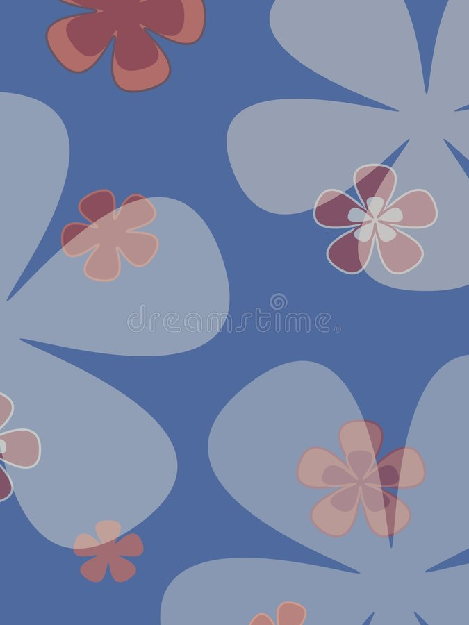 Flores grandes ilustração royalty free