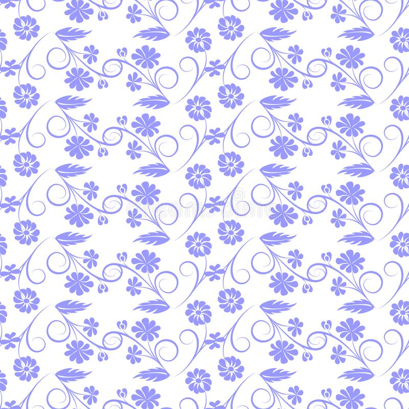 Flores grises en el fondo blanco libre illustration