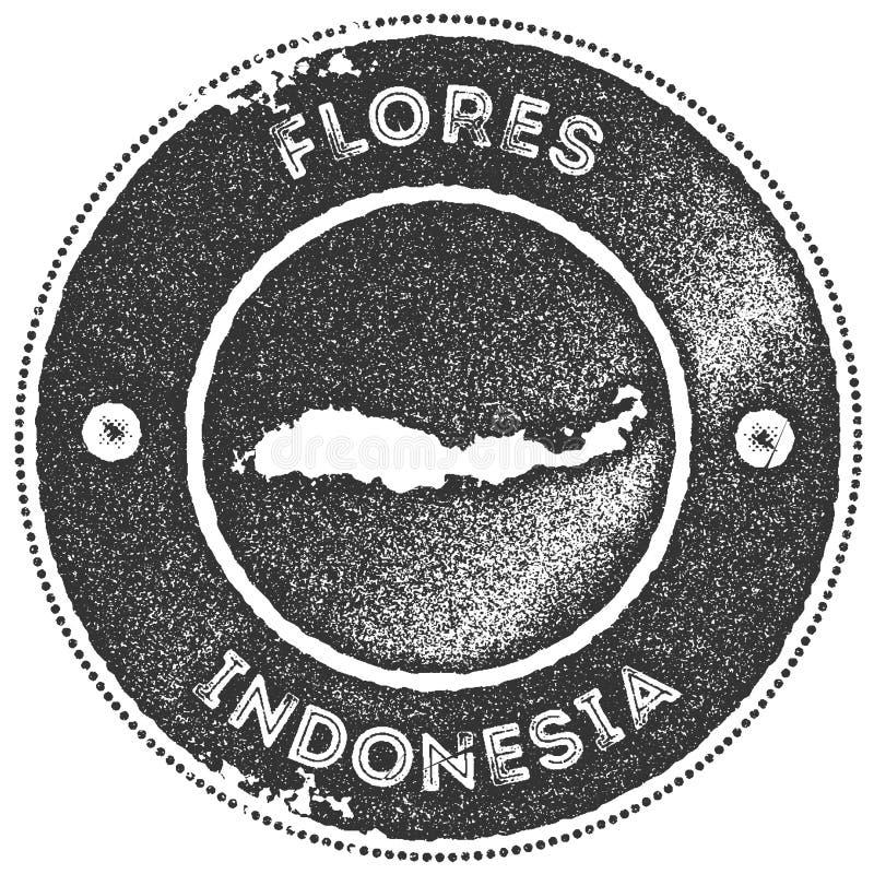 Печать карты Flores винтажная иллюстрация вектора