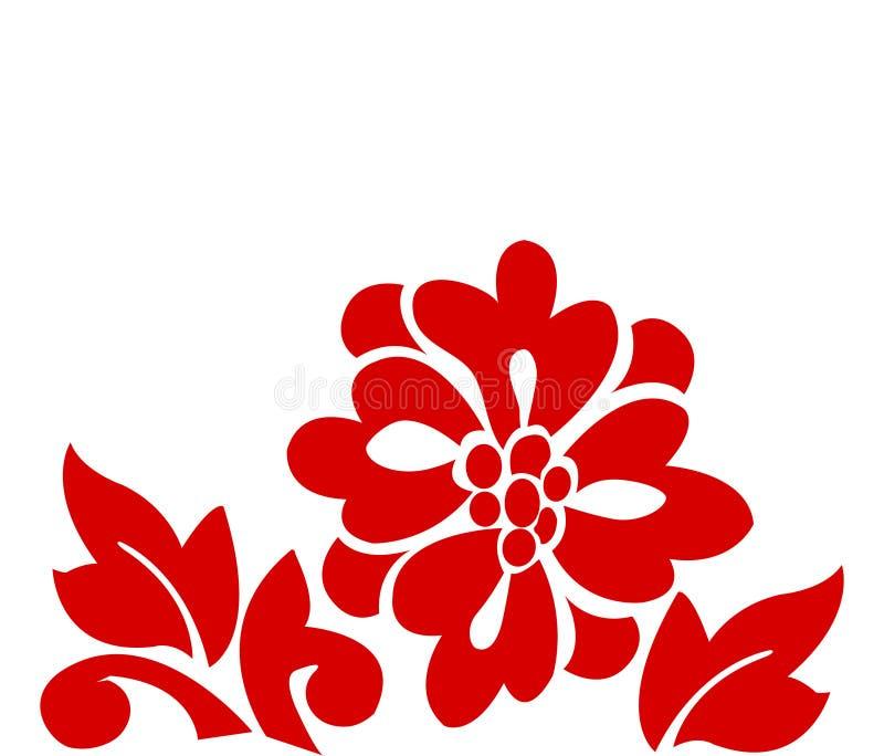 Flores hawaianas stock de ilustración