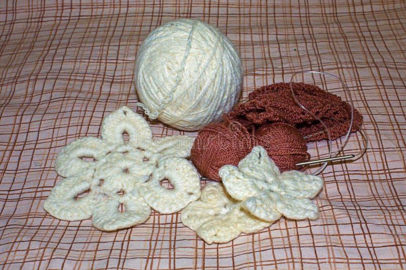 Flores hechas punto knitwear foto de archivo libre de regalías
