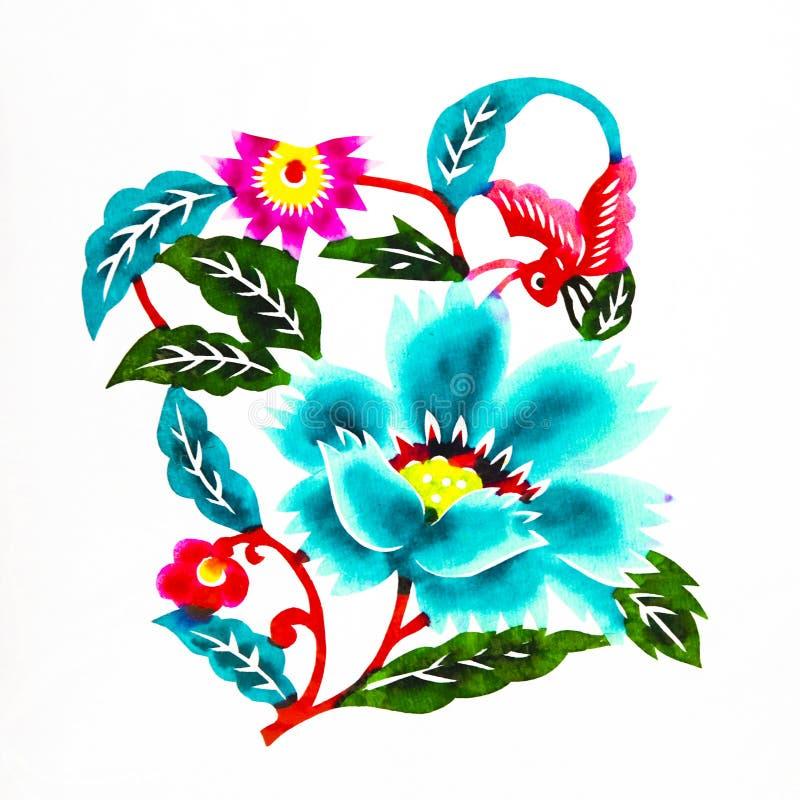 Flores hermosas stock de ilustracin Ilustracin de tijera 12101905