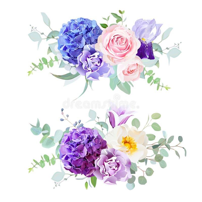 Flores hermosas de la boda de la primavera stock de ilustración