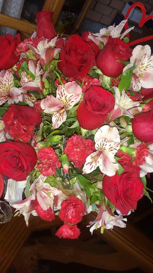 Flores hermosas para 40& x27; aniversario de s imágenes de archivo libres de regalías