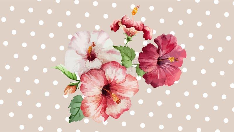 Flores hermosas tres fotografía de archivo