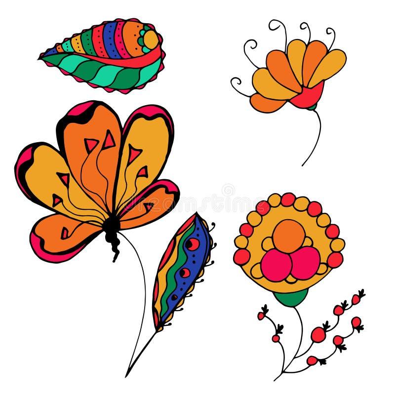 Flores incompletas stock de ilustración