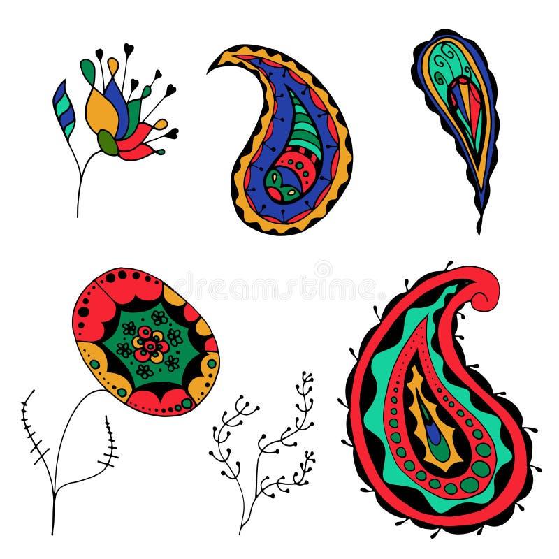 Flores incompletas ilustración del vector