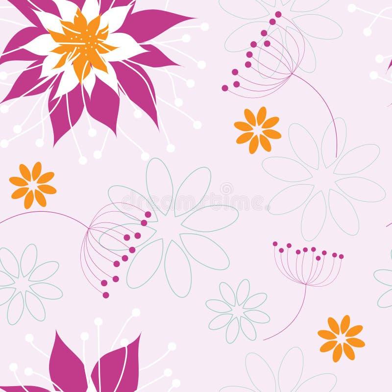 Flores inconsútiles foto de archivo