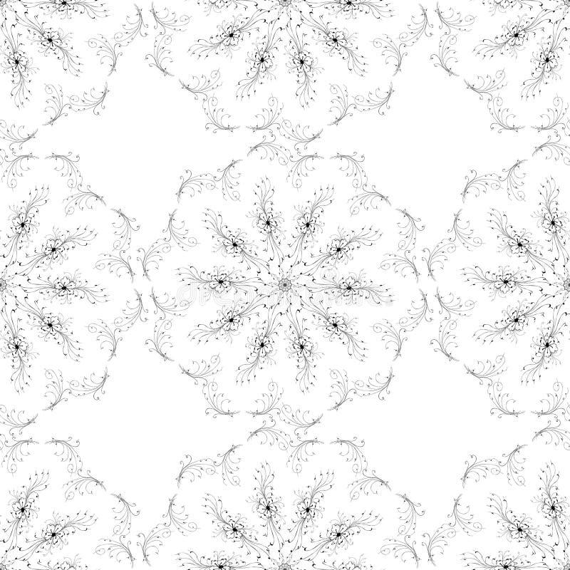 Flores inconsútiles del arte del modelo de la textura foto de archivo libre de regalías