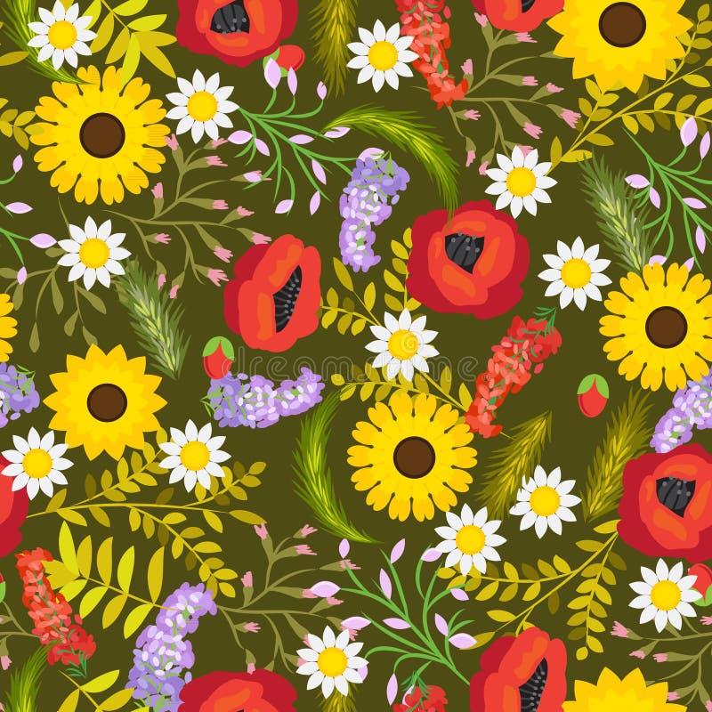 Flores inconsútiles florales del fondo del vector libre illustration