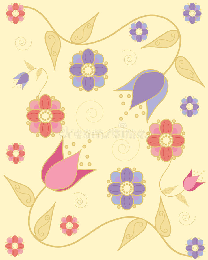 Flores indianas ilustração do vetor