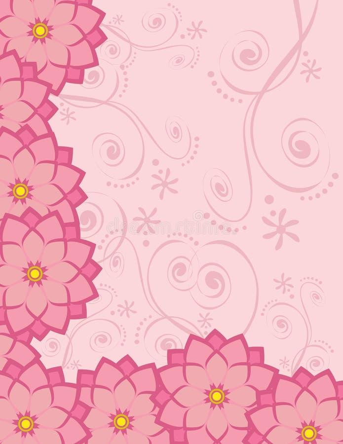 Flores inmóviles del fondo stock de ilustración