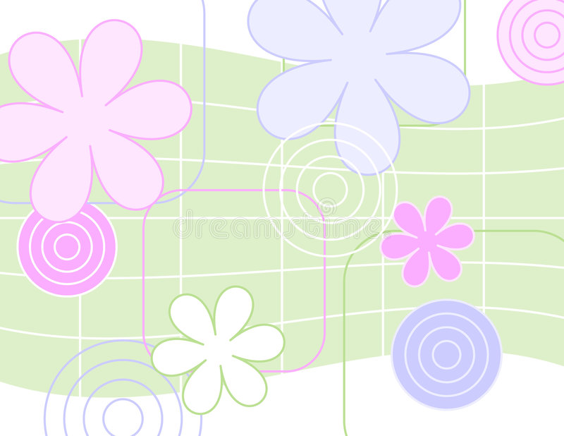 Flores jazzísticos ilustração do vetor