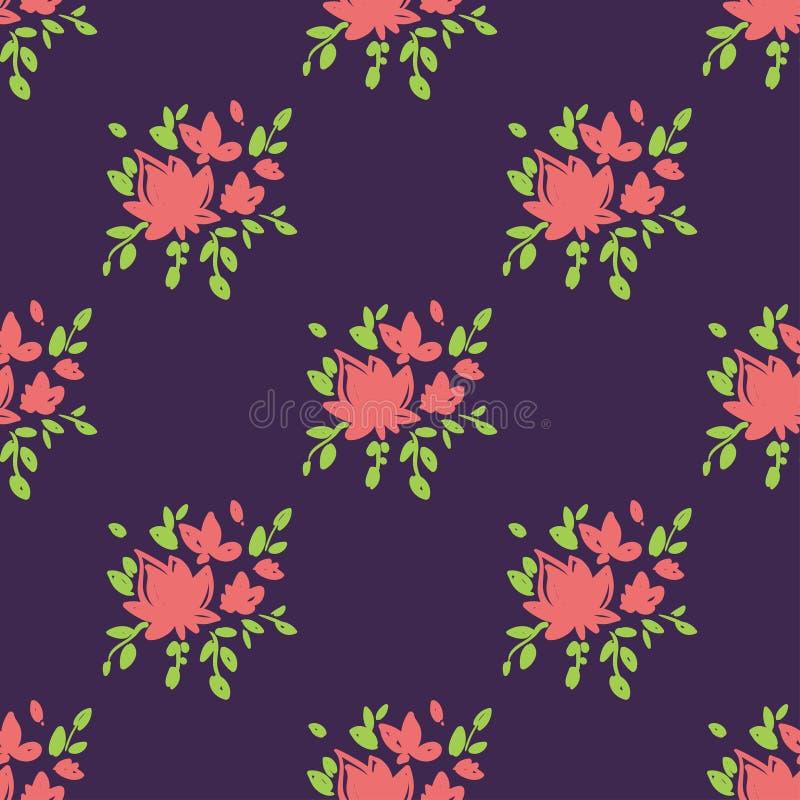 Flores a mano hermosas simples ilustración del vector