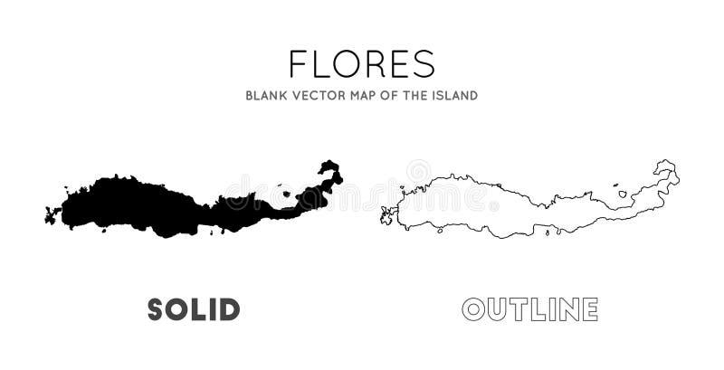 Flores mapa ilustracji