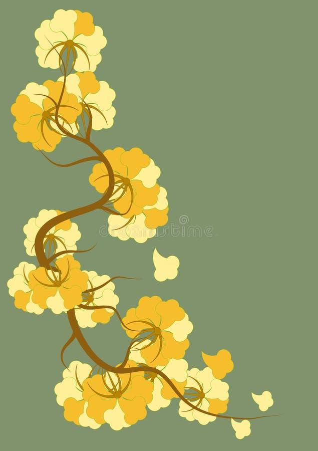 Flores no estilo de Nouveau da arte ilustração do vetor