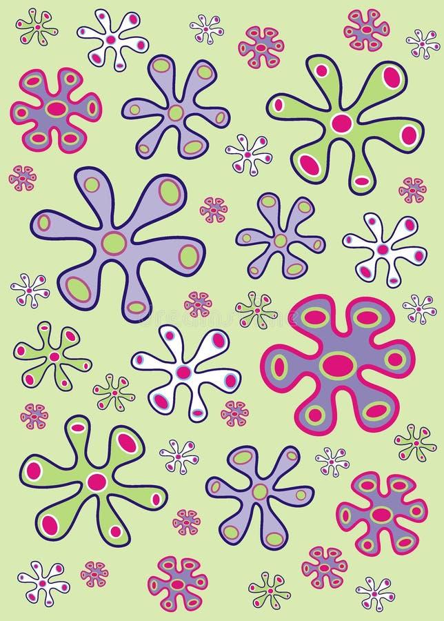 Flores orgânicas ilustração do vetor