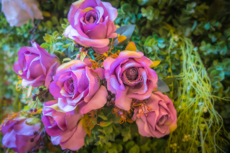 Flores púrpuras falsas foto de archivo libre de regalías